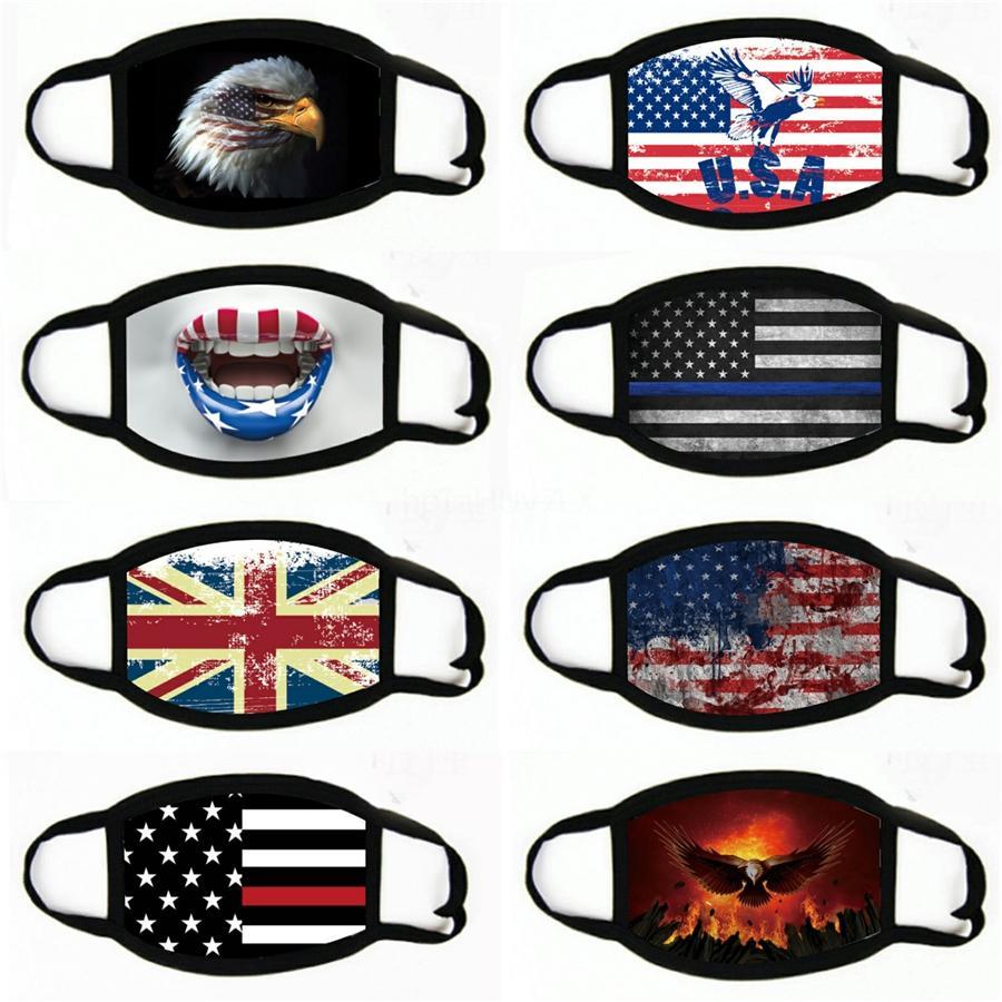 Açık Binme Güneş Koruma Önlüğü Amerikan Bayrağı Çok Fonksiyonlu Toz Ve Güneş Koruma Spor Kafa Buz İpek # 613 Maske