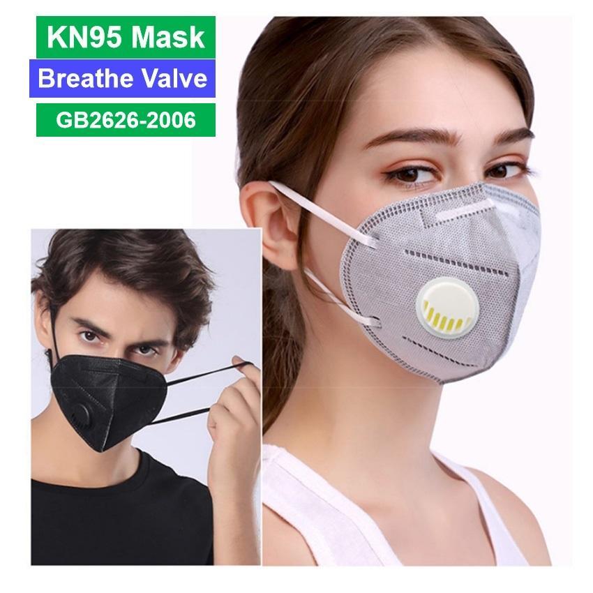 Válvula gratis 95 máscara barco kn máscara dhl capas anti negro con válvula de respiración 5 blanco gris azul polvo amarillo rosa NVQWV