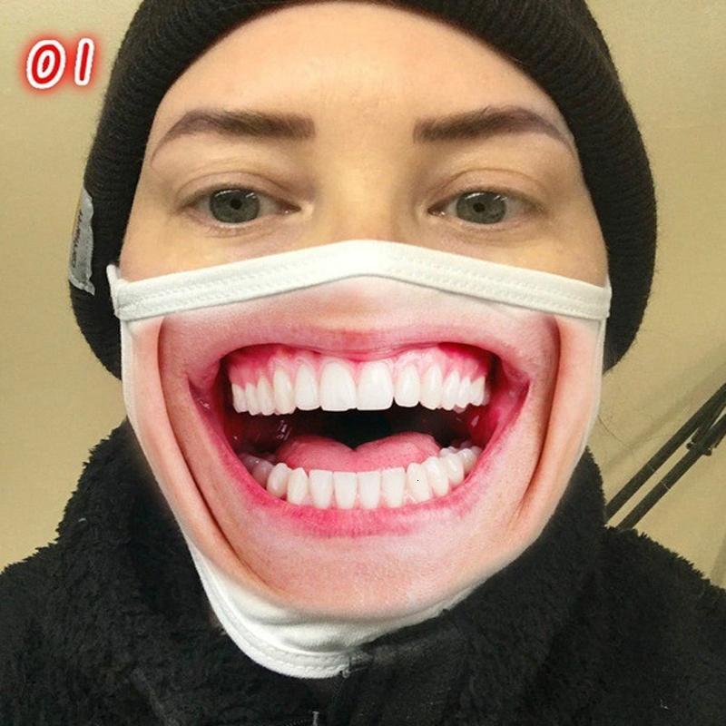Лицо Новая мод для взрослых пыл Личность Выражения лица Смешного Dust печать Маска многоразового Хлопок Ahd250