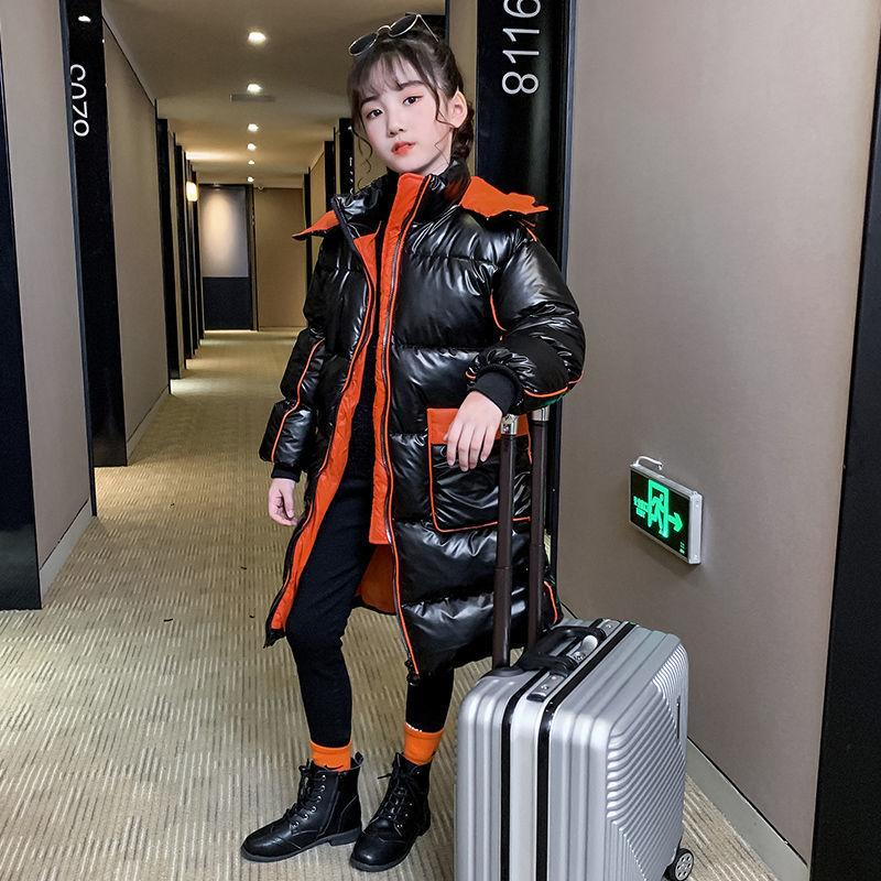 OLEKID 2020 Giacca -30 gradi Russian Winter per ragazze impermeabile lucido Ragazze Capispalla Coat 3-14 anni Bambini Teenage Girl Parka