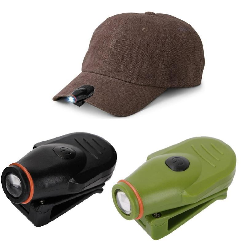 Farol Cap Mini LED Farol Hat Torch Head Light Lamp Camping Caça Pesca Clip-On Com Built-in bateria