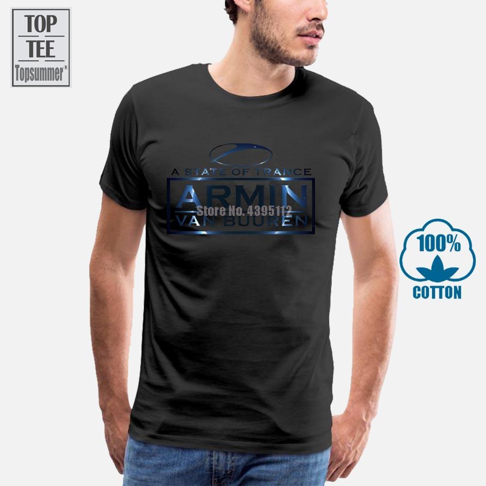 Armin Van Buuren A State Of Trance branco dos homens do algodão T-shirt Top Tee boa qualidade Custom impresso T-shirt 2019 de moda T Shirt