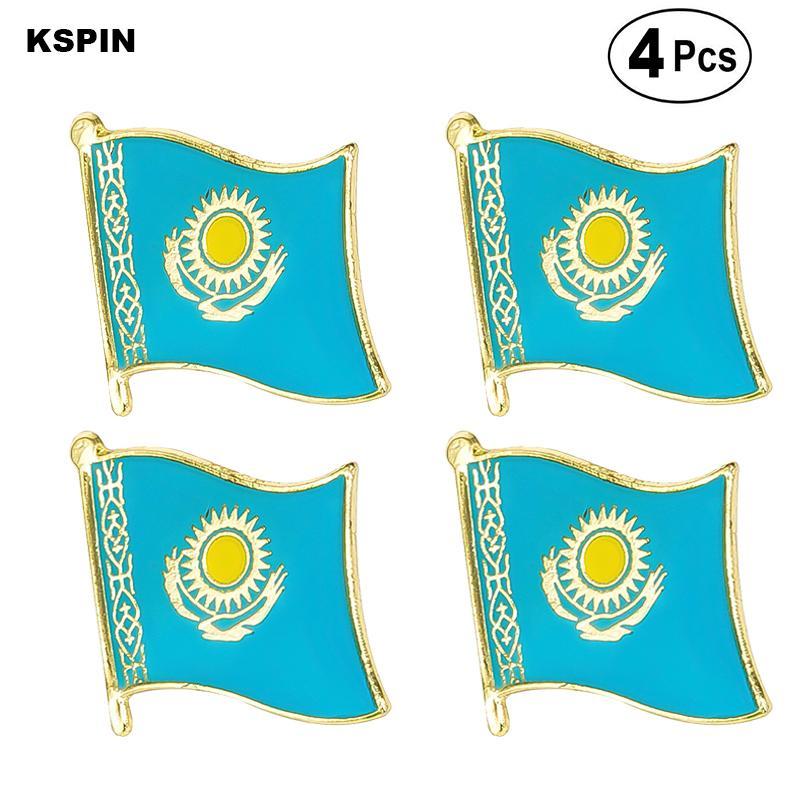 Kazakhstan Flag Pin Lapel Pin Badge Spilla Icone 4PC