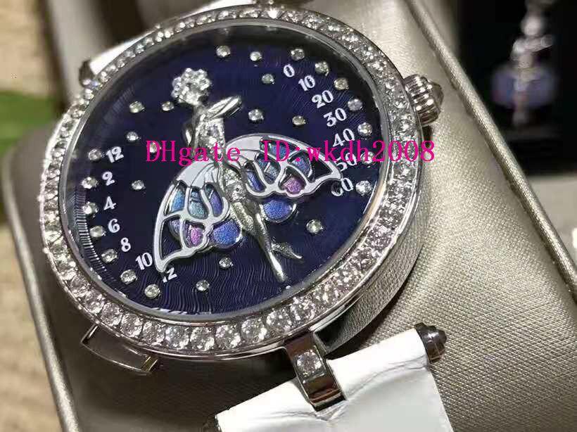 Новая VCARO4F200 Lady Часы Мода Женщина Часы швейцарские кварцевые Эмаль циферблат сапфировое стекло ремешок из кожи аллигатора
