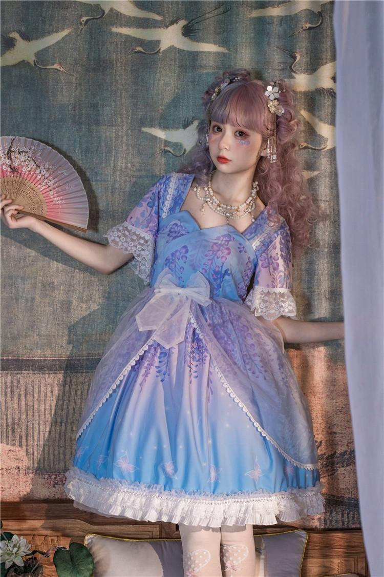 2020 Sommer Lolita weich Student 2020 Sommer weichen Mädchenkleid Mädchen Student Kleid Lolita q1ZH1