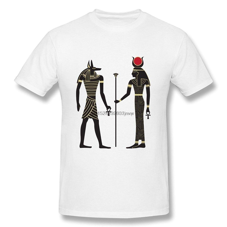 Happwan Uomini Antico Egitto Faraone Piramide Mummia Ra Anubis Tees Bianco (2)