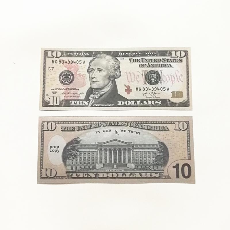 Película regalo puntal de billetes de 10 dólares moneda de juguete falsos parte del dinero hijos billete de 50 dólares