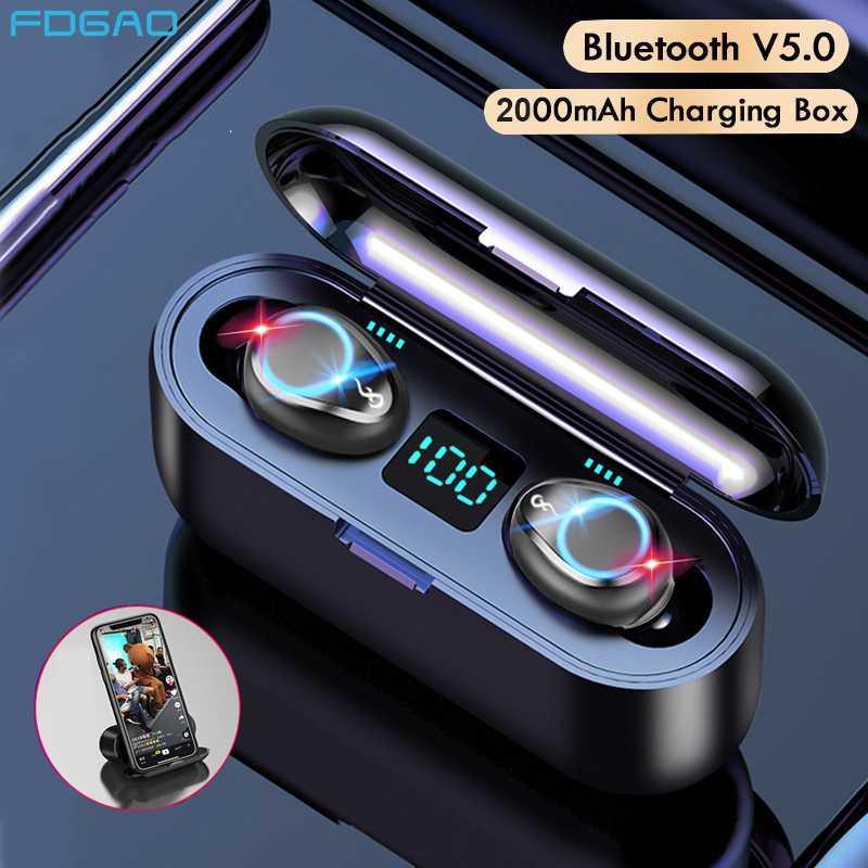 Mini Bluetooth V5.0 Auriculares inalámbricos 9D Hifi Deportes impermeable auricular inalámbrico de auriculares