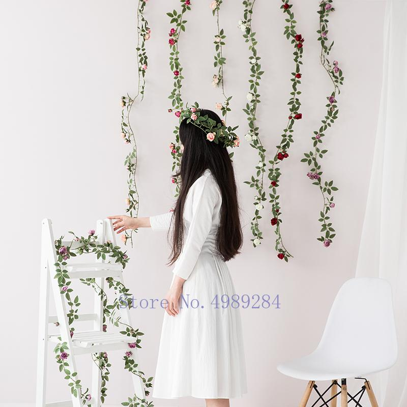 Creative Artificial flower rose rattan Artificial plants Modern home decoration Wedding accessories indoor christmas wreath