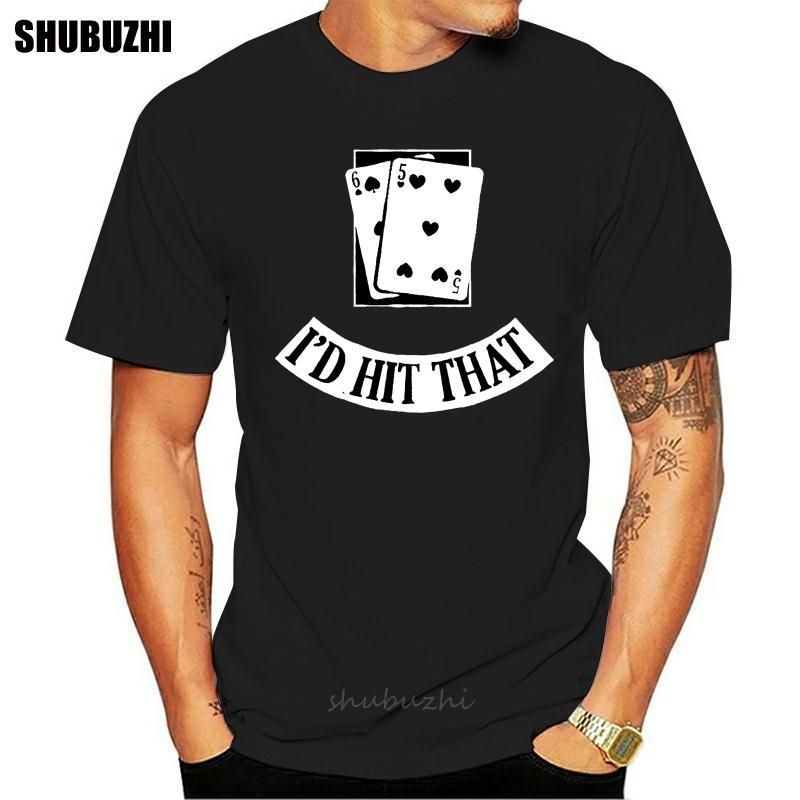 Carte divertente Black Jack Blackjack Gamble Casino Las maglietta unico Over Size S-5XL Stampa di stile nuovo modo di estate normale cotone