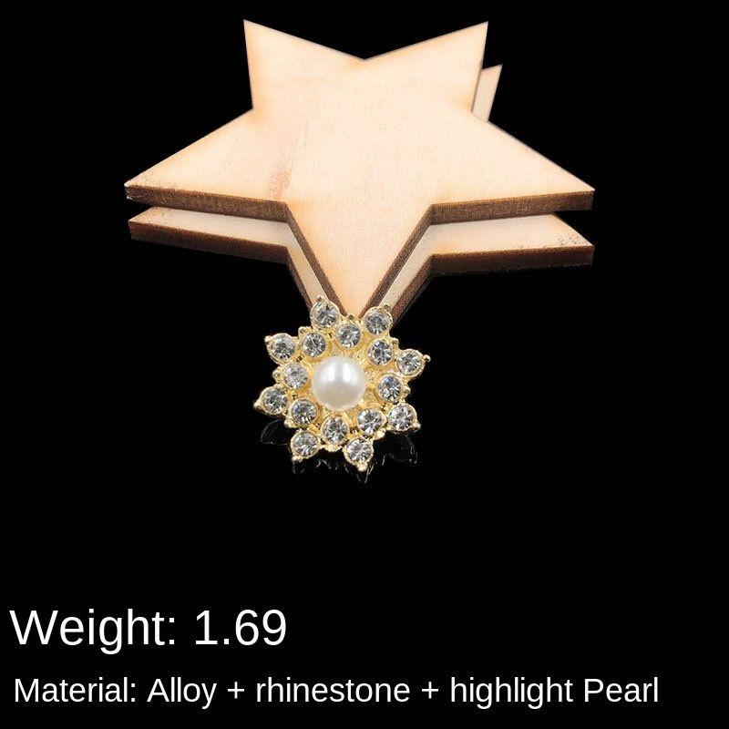 ED2pT Nueva hechos a mano de flores de perlas accesorios Corazón de la flor del corazón del Rhinestone accesorios para el pelo hechos a mano material de novia de tocado