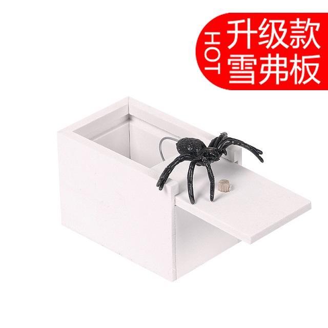 الشخص كله مزحة المربع الصغير علة العنكبوت الرعب القليل صندوق خشبي تقديم هدية هالوين لمفاجأة أصدقائك