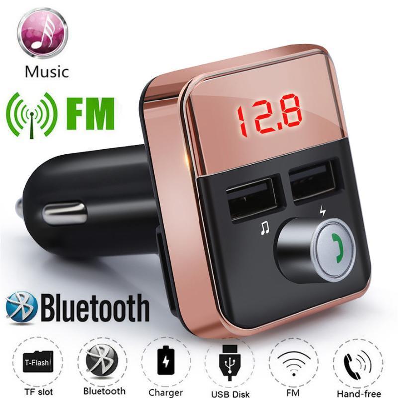 Nuova elettronica per auto Bluetooth Trasmettitore FM Radio Adapter Wireless USB Charger Mp3 Player Pratico durevole l0509 di alta qualità