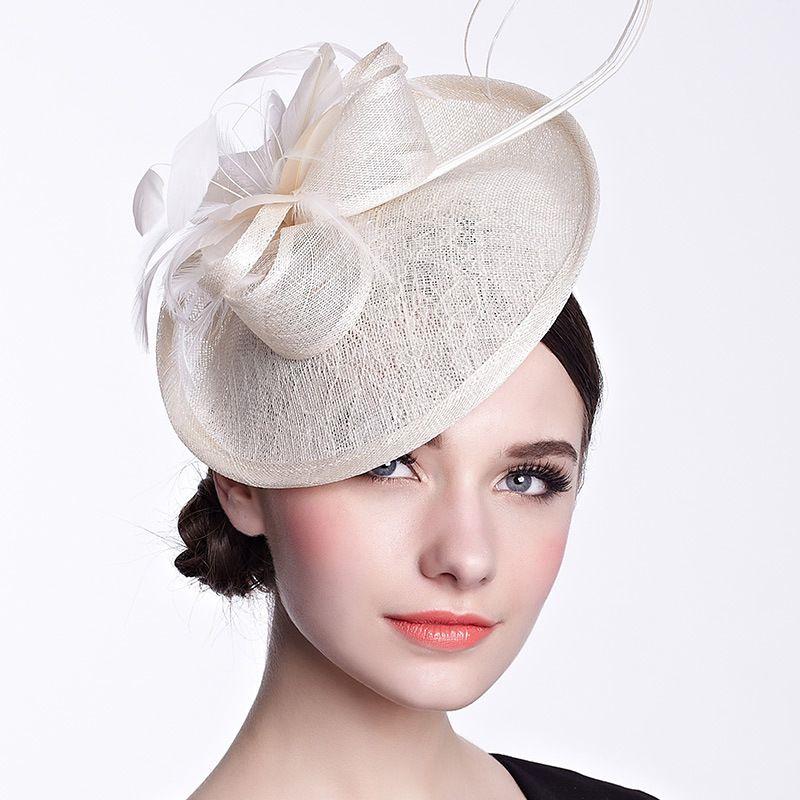 Fashion lace Fascinator hats fedora hat headwear woman hat fedora french for women headdress banquet wedding dress clip