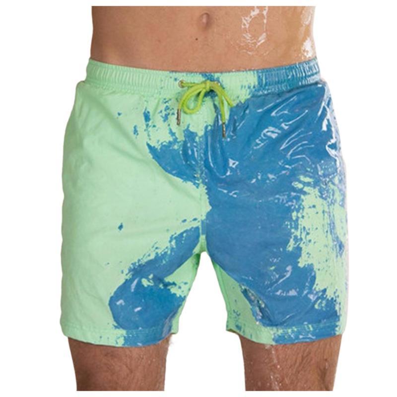 Мужские шорты плюс размер пляж обесцвечивание мужчины лето быстрый сухой высокотемпературный модный цвет смена мальчиков вскользь