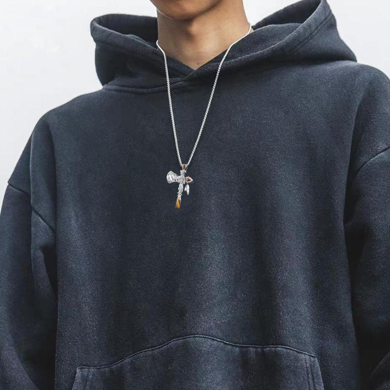 남자 크로스 O4D1를 들어 체인 보석 목걸이 선물과 종교 예수 십자가 목걸이 남성용 새로운 패션 늘어 뜨린