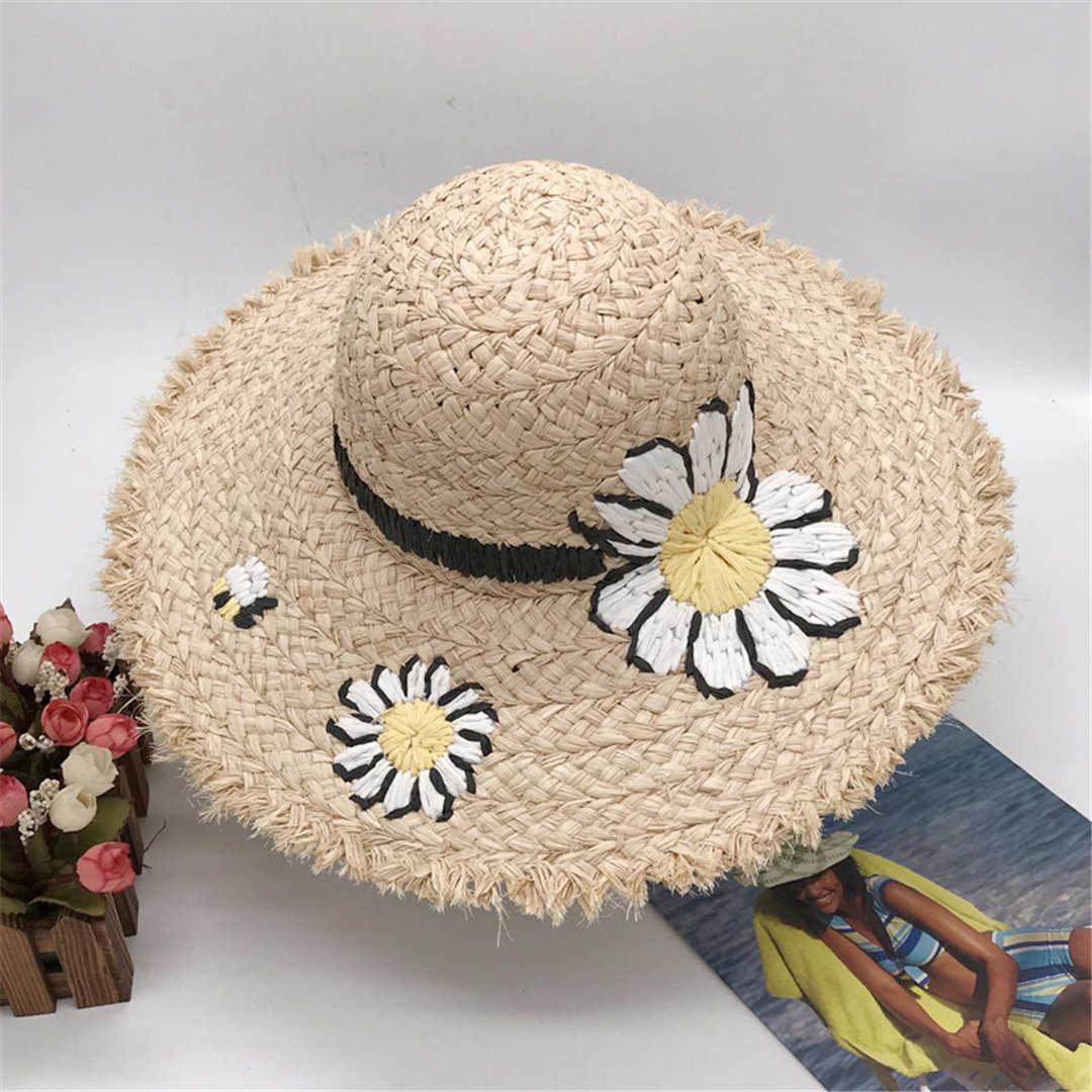 Daisy plage Cap Summer Street Fashion Chapeaux Bonnet pour femme Casquettes ajustables Femmes Daisy Hat 2 modèles de haute qualité