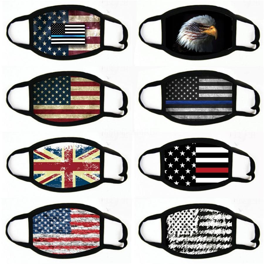 Donald Maschera 2020 USA Bandiere Disegno Bocca copertura donna Uomini Anti maschere antipolvere lavabile in cotone DDA150 # 957