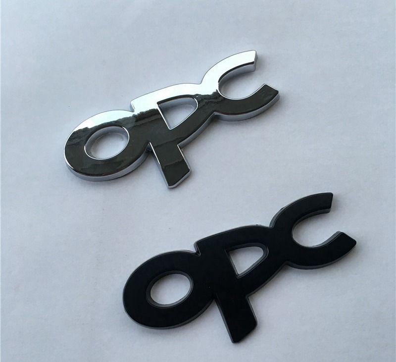 Car Styling 3D Car Sticker metallo cromato OPC distintivo dell'emblema della decalcomania per Opel Astra Regal Lacrosse Corsa Zafira per Buick