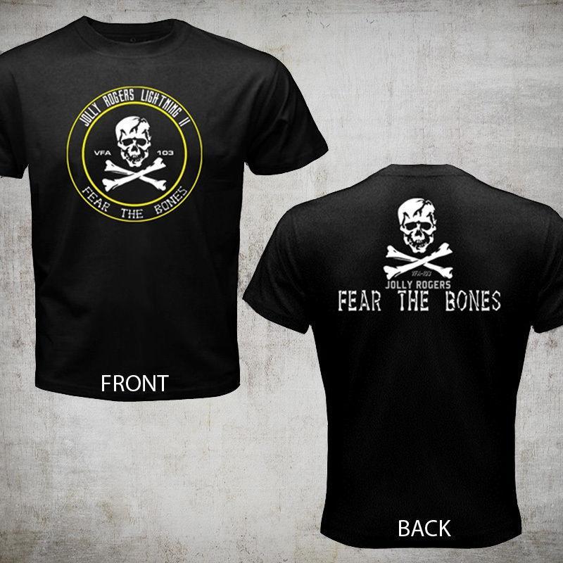 2020 di modo caldo di vendita Nuovo VFA 103 Vf 84 Jolly Rogers Fear The Bones US Navy Strike Fighter Camicia di T Shirt