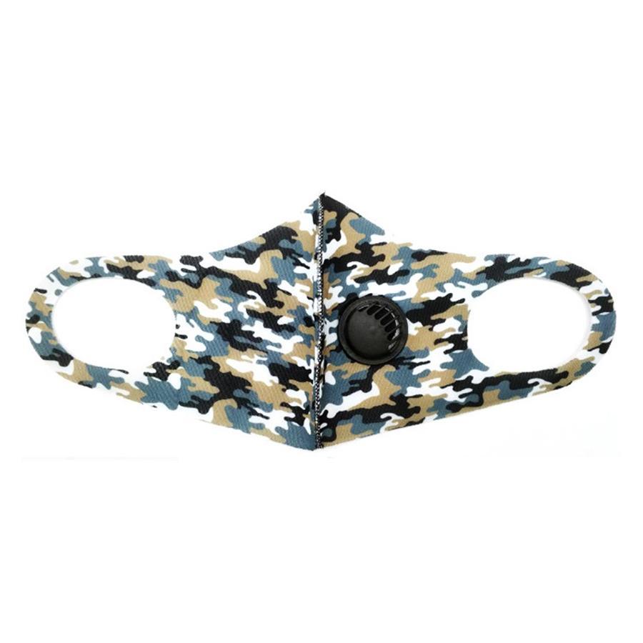 2020 New Designer Printed 3D-Gesichtsmaske, Gesichtsantistaub-Schwammtuch Schablonen mit 2 1Pcs PM2.5 Austauschbare Filter Flag Pattern Mund-Maske # 16 # 675