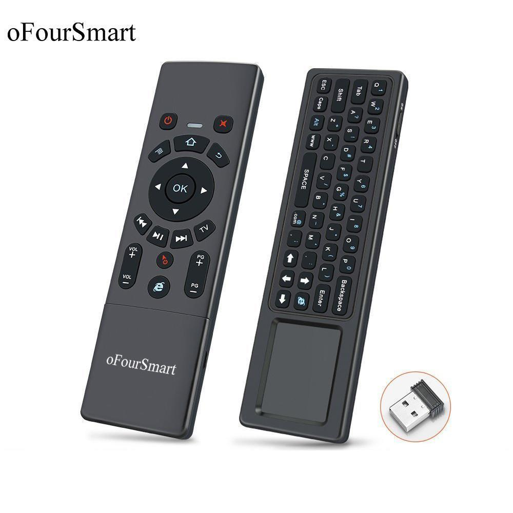 T6 Air Mouse Wireless Keyboard &Touchpad Universal Remote Control For Android Tv Box Mini Pc Smart Projector 2 .4g Air Fly Mouse T190628