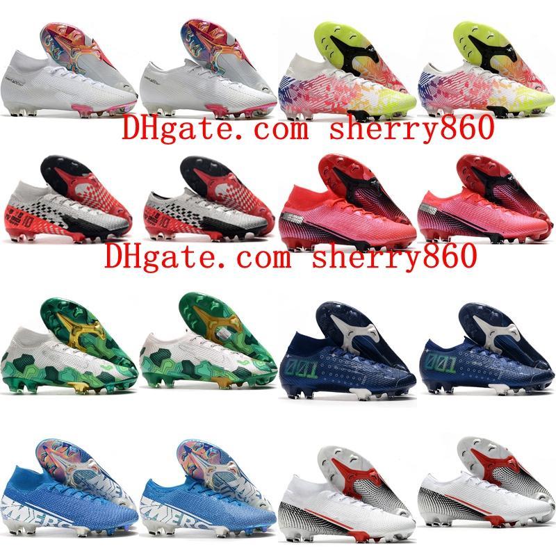 2021 Mens Boys Scarpe da calcio Donne Bambini Tacchetti Mercurial Suprefly 13 Elite FG Boots Boots Scarpe da calcio 35-45