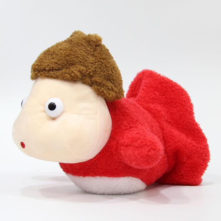 Fumetto del Giappone Miyazaki Hayao Ghibli Ponyo sulla scogliera Pesce Cute Girl farcito molle del giocattolo della peluche della bambola del regalo di compleanno LJ200914