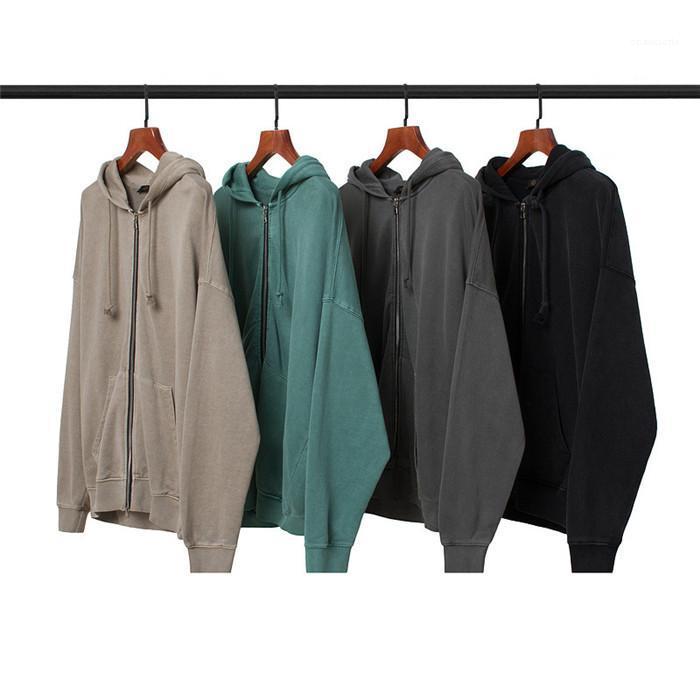 Hoodies Boy Stil Çift Fermuar Kapşonlu Uzun Kollu Sonbahar Çift Giyim Rahat Gevşek Hırka Erkek Tişörtü Retro Erkekler Tasarımcısı