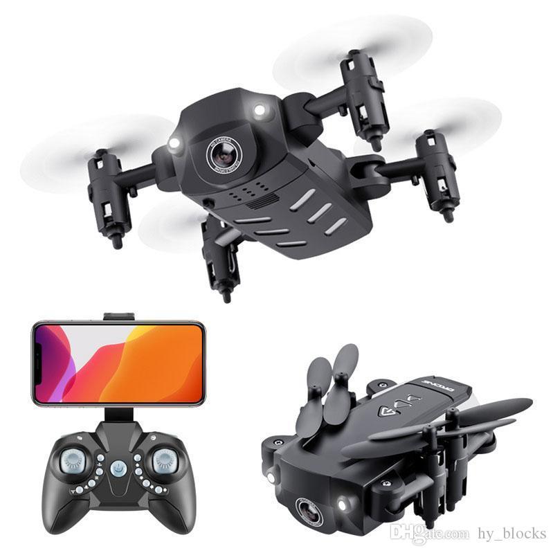 Mini RC WiFi 4K 1080P Controllo della fotocamera Pieghevole altezza pieghevole FPV Droni HD Tenere la modalità senza testa Quadcopter Drone Helicopter per bambini giocattoli MsGHV
