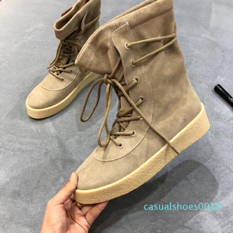 2018 Luxury Fashion Designer Shoes Madeinspainbf Kanye West Casual Stivali Donne Mens Sneakers nero superiore Giallo Chaussures 35-44 c18
