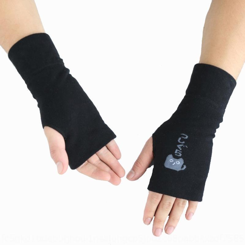 guanti amanti SNRra unisex caldo dito aperta di lunghezza media studente cinturino da polso caldo cinghia scrittura fumetto stampato i guanti mezzi della barretta