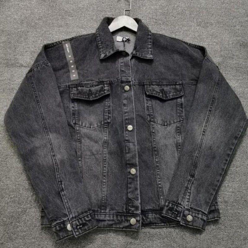 Новая джинсовая куртка Streetwear Мода Качество Свободная верхняя одежда Пальто ковбой Куртки Мужчины Джин-куртка Хип-хоп Скейтборд Пальто для мужчин и женщин