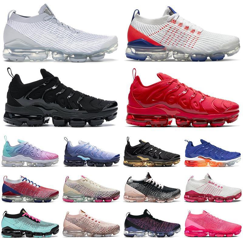 2020 air vapormax plus 3.0 Mens tênis mulheres formadores Triplo Preto branco Criada Blizzard Blue Fury Olympic EUA Pastel homens corredores tênis esportivos