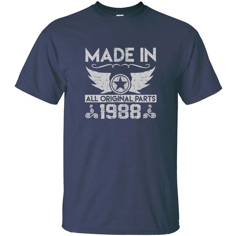 Casual divertidos Hecho en 1988 camiseta de Kawaii hombre negro sólido de color Boy camisetas de la muchacha 2020 del tamaño grande 3XL 4XL 5XL Camisetas