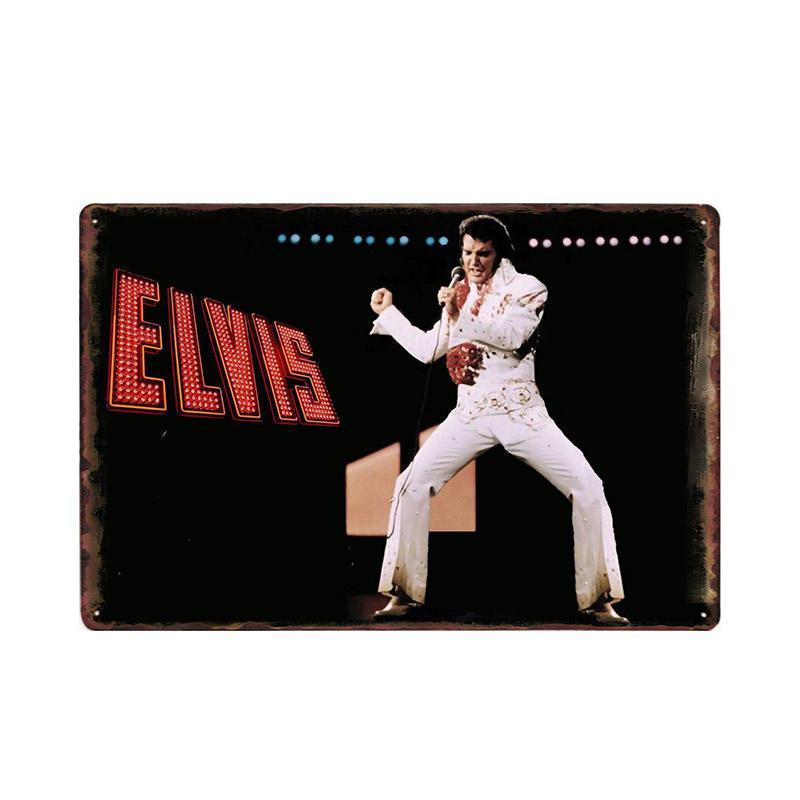 Retro barra de metal de la decoración de la muestra Las placas Elvis Decoración Vintage Poster 20x30 cm bdesports estaño hogar de la pared decorativo spMhG