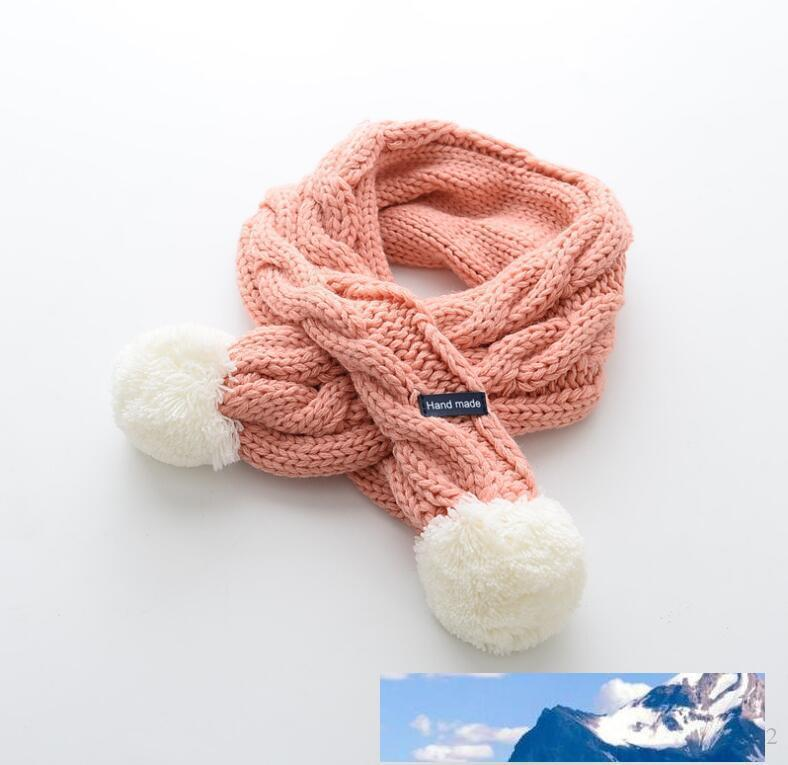 1New warm children scarf pure color knit scarves boy and girl comfortable woolen yarn neckerchief multicolor free shipping