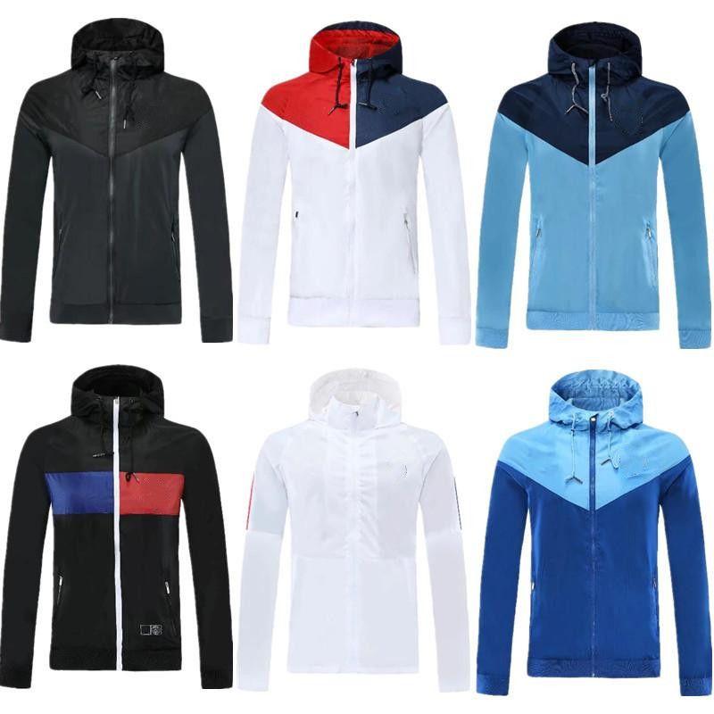 Paris Mbappe Soccer coupe-vent Olympique Marseille manteau de veste à manches longues 2020 21 sports d'hiver football sweat à capuche coupe-vent