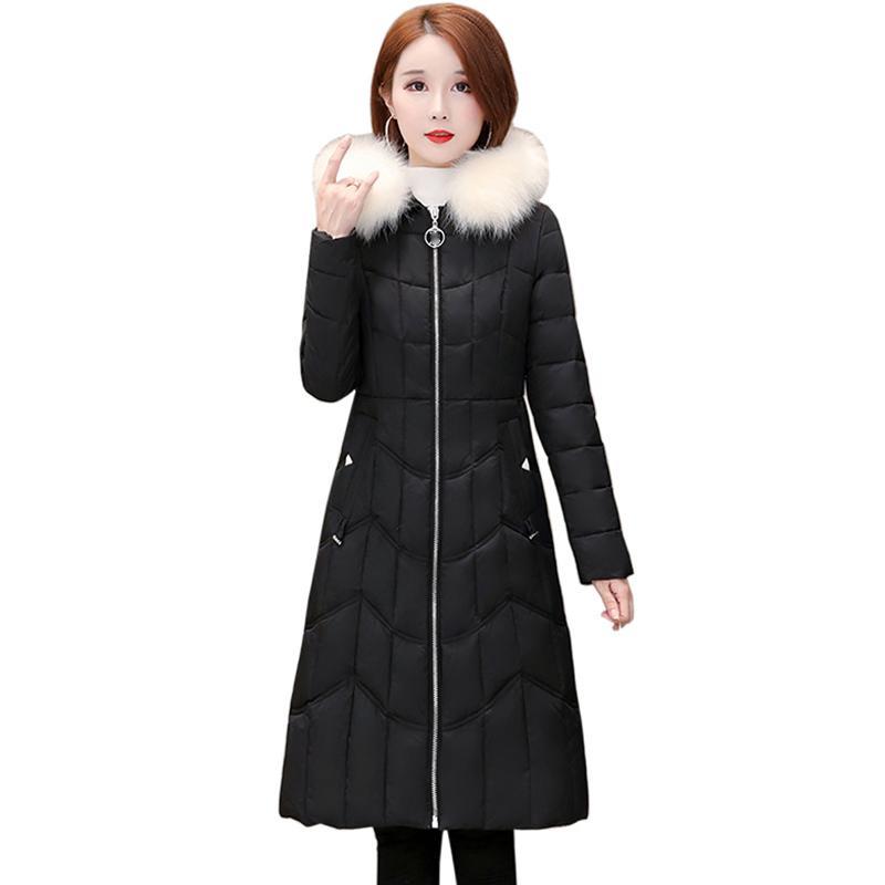 Winter jacket women 2019 Autumn New Casual Thicken warm Fashion Women black Hooded Long sleeve Parkas Coats