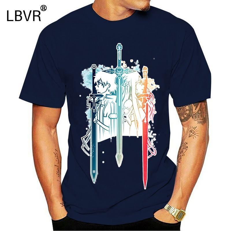 Casual Sword Art Online camiseta estilo de Hip Hop Nueva original camiseta fresca de diseño de moda Hombre Mujeres camiseta de color Camiseta de fitness