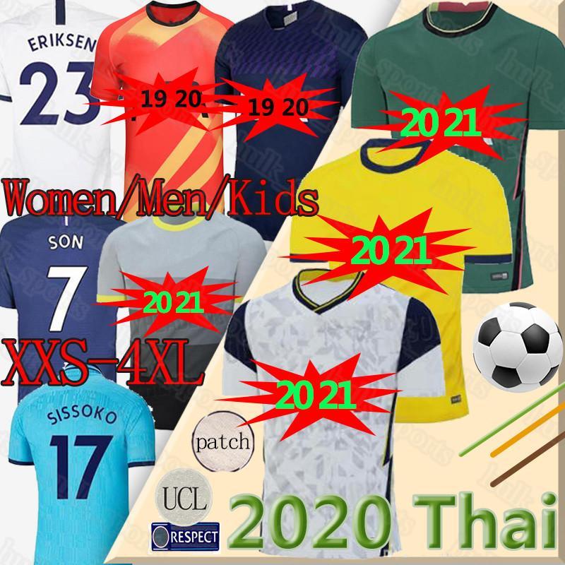 Tottenham KANE Spurs Soccer Jersey 2020 2021 LUCAS Eriksen DELE Jerseys SON NDOMBELE Bergwijn 20 21 camisas do futebol Men + crianças set