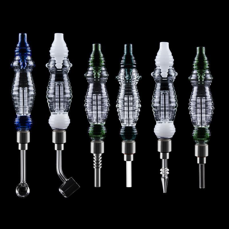 Vidrio313 NC037 Sepia Bubbler Oil DAB RIG DAB Tubos 510 Cuarzo Banger Uñas Cerámica Cuarzo Titanio Nail Big Dab Rig Bong Glass Pipes