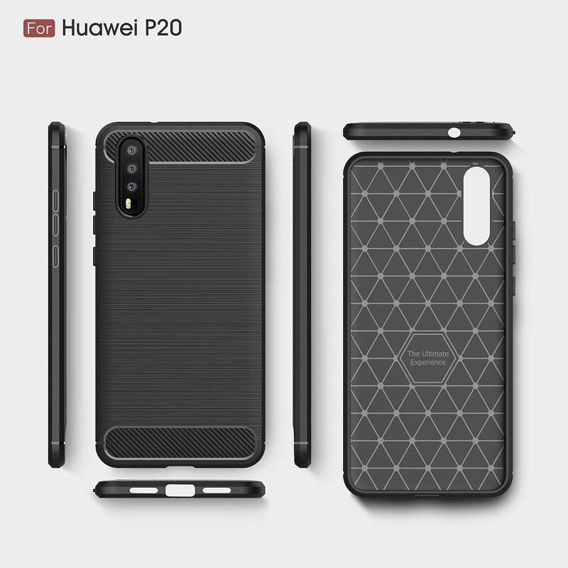 2018 Novos casos de celular para Huawei P20 P20 Pro luxo de fibra de carbono Heavy Duty Capa Para Huawei P20 Lite Capa grátis DHL