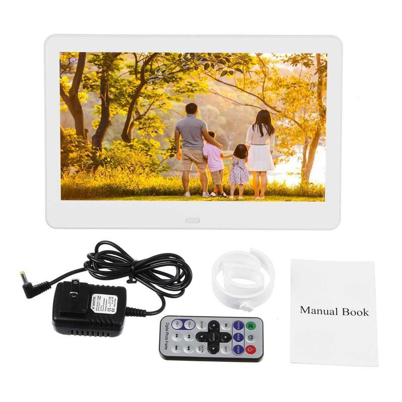 10-дюймовый HD Digital Photo Frame Electronic Фото Музыка Кино Mult-Media Player LCD Жидкокристаллический дисплей фоторамки