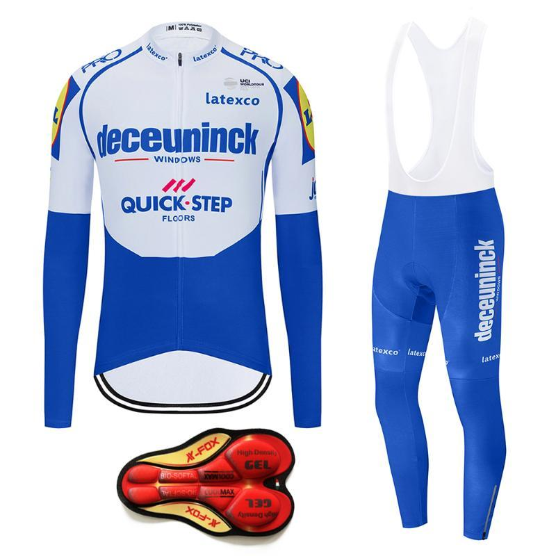 새로운 2020 프로 팀 QUICK 단계 뉴저지 사이클링은 남성 자전거 자전거 의류 자전거 턱받이 바지를 설정 MTB 로파 Ciclismo 타이츠 착용을 설정합니다