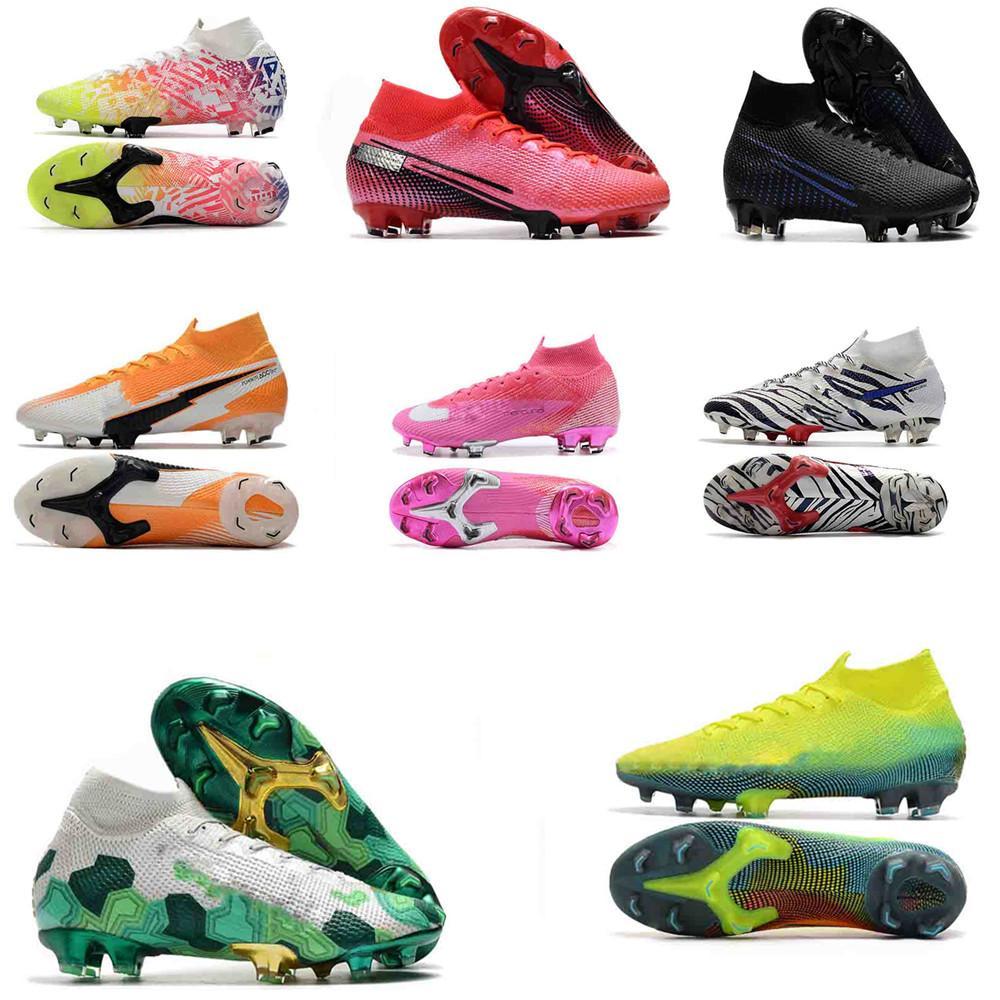 زئبقي ال superfly VI 360 النخبة FG KJ 6 XII 12 المرابط لكرة القدم لكرة القدم المرابط الرجال النساء نيمار CR7 العليا أحذية كرة القدم أحذية كرة القدم 35-45
