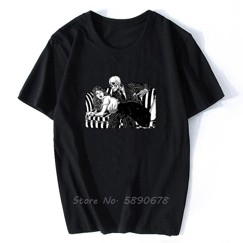 Homens T-shirt Morte ea donzela Apanhando Edição Camisetas Mulheres T Shirt Tees Men Cotton T-shirt Harajuku