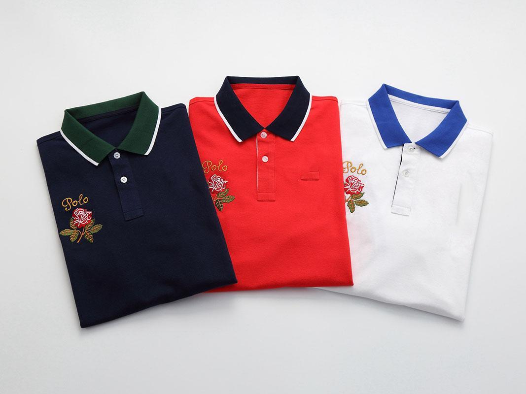 Mens Polo classique T-shirts Polo Homme d'été Polos Chemise homme Broderie Polos T-shirts High Street Tendance shirt Top Tee S-2XL de 3colors