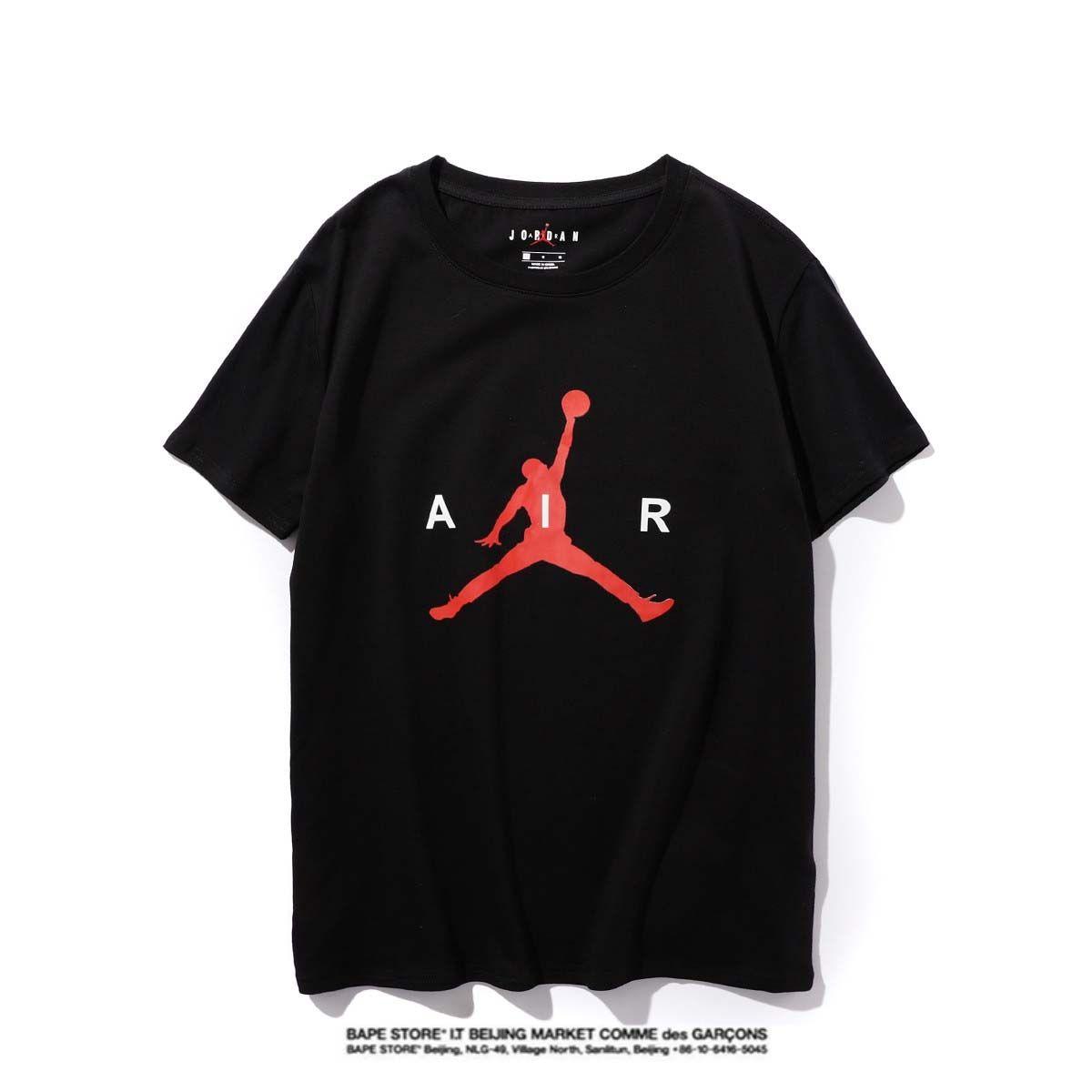 Jordan Hohe Qualität Neuer Brief Printing Short Sleeve Mode Aufmaß Cotton Hip Hop-Männer Frauen Paar Designer-T-Shirt S-XXL # 12137