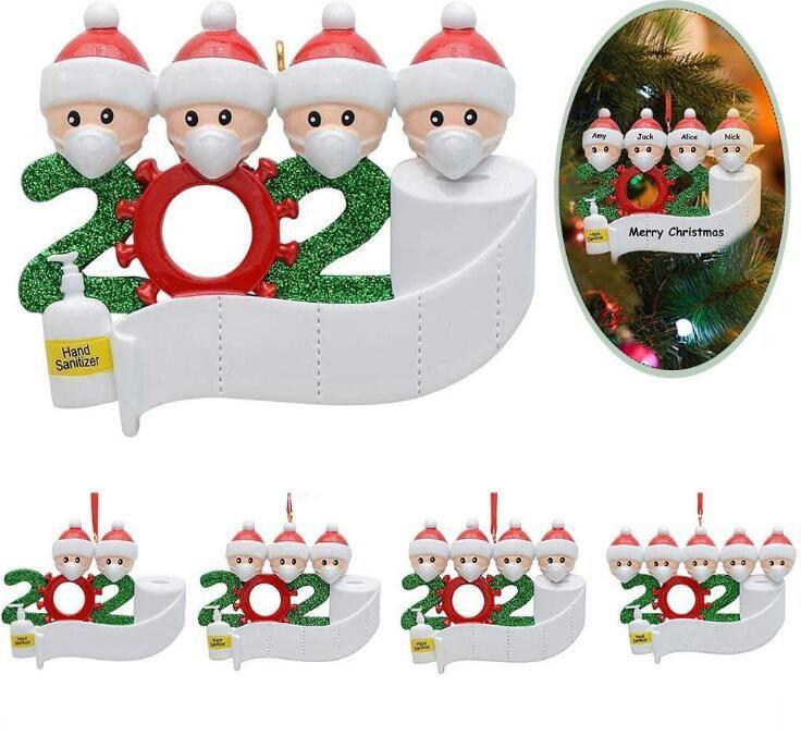 2020 Noel Süs Kişiselleştirilmiş Asılı Kolye DIY Adı Aile Nimet Kolye Noel Dekorasyon Deniz Nakliye OOA9066